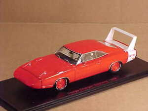 SPARK 1/43 1969 Dodge Charge Daytona Coupe, Red with White Rear Spoiler S3611