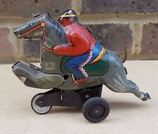 Vintage YONE (S Y) Japan Horse Jockey Tin Toy