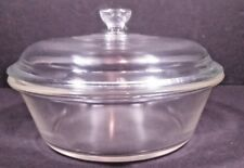 Pyrex Glass Casserole Dish w Lid 465 Old Logo May 27 1919 100 year old Antique