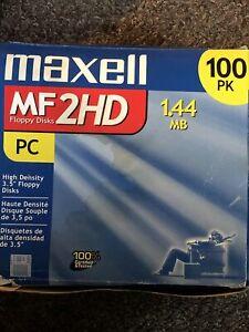 87 Maxell MF 2HD 1.44 MB PC 3.5 inch High Density Floppy Disks Open Box