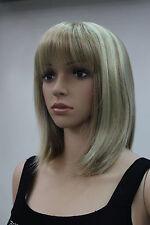 Haute qualité!brun Moyen raide Bob femme santé cosplay Costume cheveux perruques