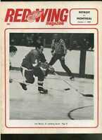 1966/67 Detroit Redwings Montreal Canadians NHL hockey program  MBX58