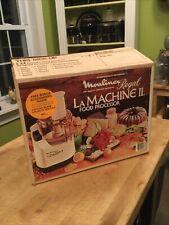 Vintage NOS La Machine II Food Processor Model V588