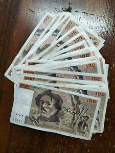 35 Billets 100 Francs Delacroix