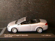 FORD FOCUS COUPE CABRIOLET ARGENTO METALLIC 2008 MINICHAMPS 400084031 1/43