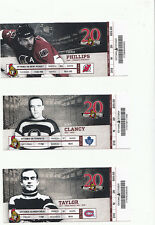 OTTAWA SENATORS VS NEW JERSEY DEVILS FULL TICKET STUB CHRIS PHILLIPS 3/20/12