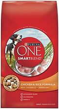 Purina ONE SmartBlend Dry Dog Food, Chicken and Rice Formula, 8-Pound Bag, Pack