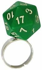 Adjustable d20 Dice Ring - Green Metallic Dice Games GAMING SUPPLY BRAND NEW