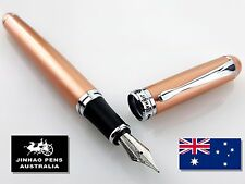 JINHAO X750 Rose Gold Fountain Pen Medium Nib + 2 Black Cartridges