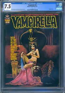 Warren VAMPIRELLA #23 - CGC 7.5 VF- WP - SANJULIAN COVER