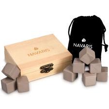 Granit Eiswürfel Ice Cube Set 9x Whiskey Steine Würfel Holzbox Whisky Stones