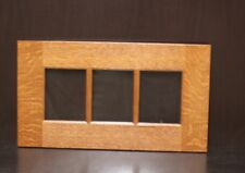 "Set of 2 Kraftmaid Kitchen Praline Oak Glass Doors 4 Wall Cabinet 42""x12"""
