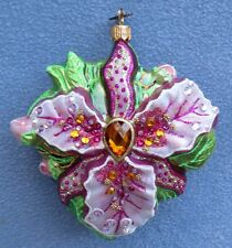 Jay Strongwater Flora Orchid Ornament Swarovski Elements New In Box