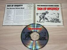 NORMAN HAINES BAND CD - DEN OF INIQUITY in MINT