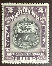 North Borneo 1911 $2 Black & Lilac SG181 MH