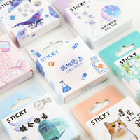 46Pcs Cute Stickers Kawaii Stationery DIY Scrapbooking Diary Label Stickers F6