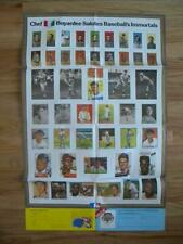 """BASEBALL'S Cards IMMORTALS BY CHEF BOYARDEE 1984 Vintage Poster 33.5"""" X 21.75"""""""