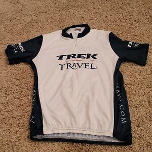 NEW TREK Travel Large Bicycle RACING Cycling Jersey 3/4 Zip Shirt W/ Pockets