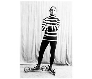 Roller Skater c1905 Vintage Sports Photo Reprint Antique Skates Poster Decor