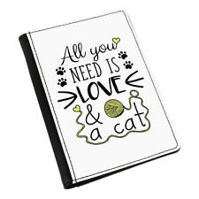 All You Need Is Love And A Cat Passport Holder Cover Case Wallet - Crazy Lady