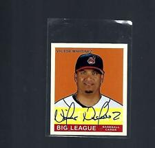 2007 AUTOGRAPH VICTOR MARTINEZ ON CARD FROM PACKS INDIANS GOUDEY