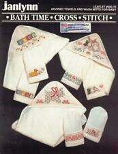 Bath Time Hooded Towels & Wash Mitts for Baby in Counted Cross Stitch Janlynn