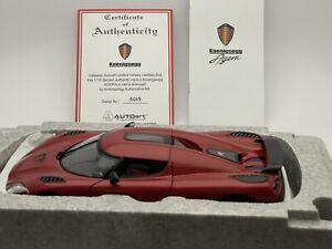 AUTOart 79007 1:18 Köenigsegg Agera Red Mint!
