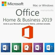 Microsoft Office Home and Business 2019 for Windows/Mac, 1 User