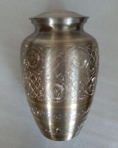 Urne Messing Gloucester Graburne Feuerbestattung 25 cm