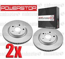 Set of 2 POWERSTOP EVOLUTION COATED Front Brake Rotors Lexus ES350 Toyota Scion
