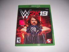 Original Box Case Replacement Microsoft Xbox One XB1 WWE 2K19 2019