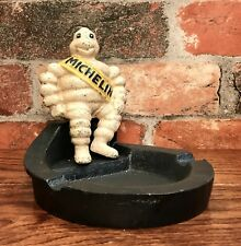 Michelin Man Bibendum Vintage Cast Iron Ashtray