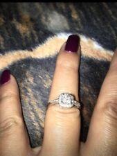 10K/ White Gold- Engagement Ring Size 8