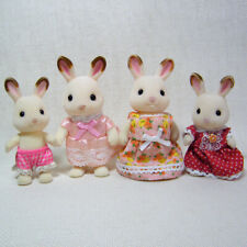 Sylvanian Families CHOCOLATE BUNNY Family, Four Loose Figures