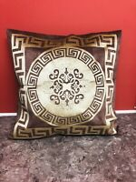 Greek Key/Border BAROCO VELVET Versace Border Decorative Pillow Throw Cover