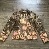 COLDWATER CREEK Women's 10 Tapestry Blazer Jacket Floral Full Zip  Lined