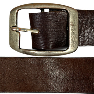 Vittozza Mens Vintage Leather Belt Brown Size 105 cm 42 inches Italy R5 05