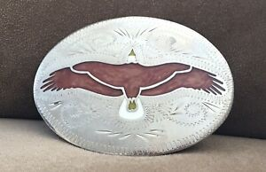 Vintage RARE Johnson Held USA Handcrafted EAGLE CONDOR SPREAD WINGS Belt Buckle