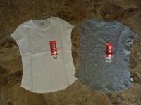 Nwt Girls Eddie Bauer T-Shirt Short Sleeve Shirt White Gray XS S M L