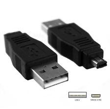 Adaptateur Convertisseur USB-A vers Mini-B Hirose 4pin mâle Appareil Photo MP3