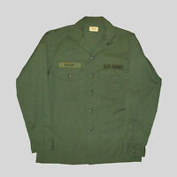 Old Vtg 1981 Vietnam War Era US Army Fatigue Shirt 15.5 X 35 Very Nice Early 80s