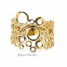 14K Solid Gold Unique Maze Cage Puzzle Design Ring Gift For Her Fine Jewelry