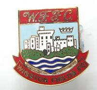 Wigston Fields Football Club Enamel Badge Non League Football Club
