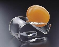 Quick Drip-Dry Curved Soap Dish, High-Grade Acrylic, by Huang