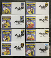 FULL SET FLEETWOOD US BATMAN 75TH BIRTHDAY FDC COVERS