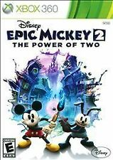 Disney Epic Mickey 2: The Power of Two (Microsoft Xbox 360, 2012) Complete