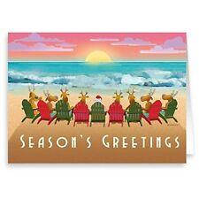 Beach Sunset Christmas Card 18 Cards & Envelopes - Beach Christmas Cards   30058