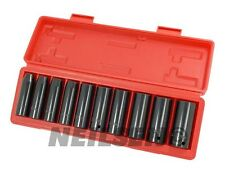 "11pc 1/2"" Drive Deep Impact Socket Set Garage Tool Heavy Duty Chrome Vanadium"