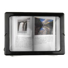 Fashion A4 Full Page Large Magnifier 3X Foldable Glass Loupe Hand for Reading