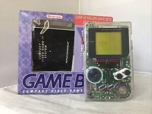 Nintendo Game Boy Pocket Clear Transparent With Original Box Manual Rare 1995